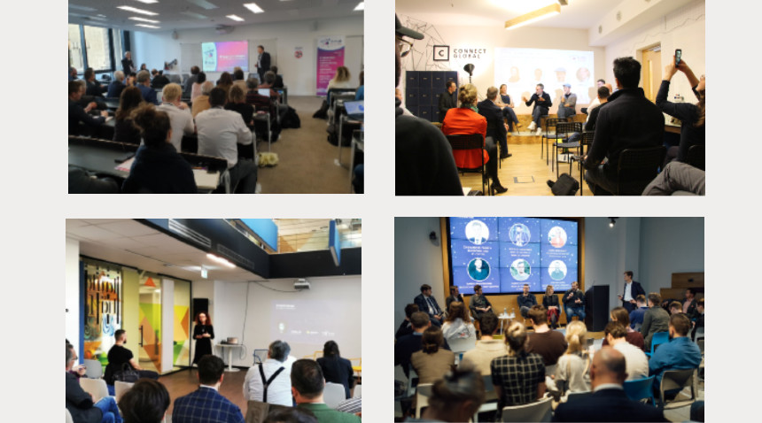 images from B-hub partners' opening events (France, Germany, Romania, Lithuania)