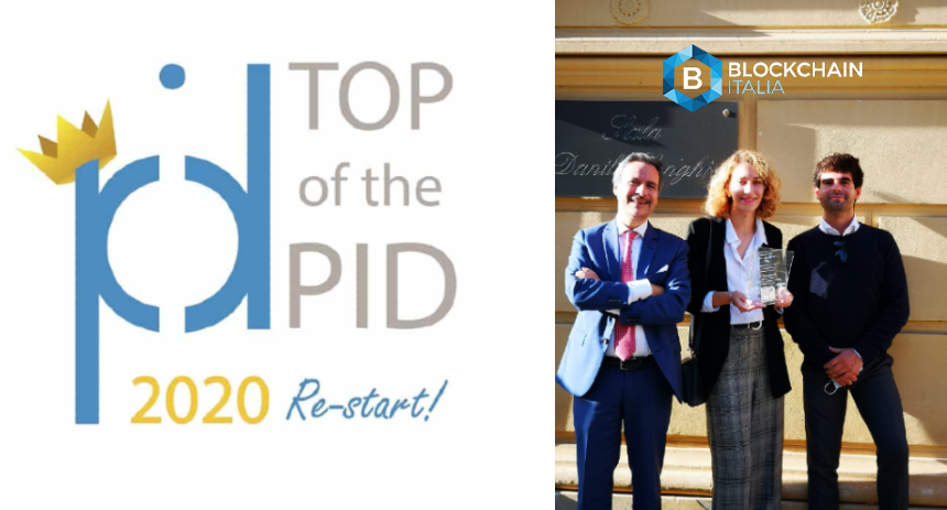 blockhain italia receives top of the PID prize
